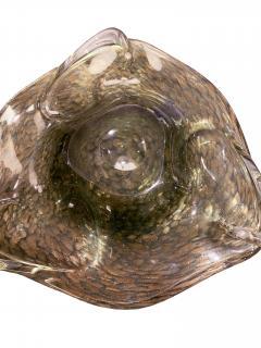 Hand Blown Murano Glass Dish With Aventurine 1950s - 1189288