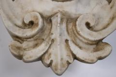 Hand Carved Solid Calacatta Marble Gothic Revival Skull Architectural Element - 1816858
