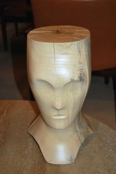 Hand Carved Spalted Head Side Table - 148182