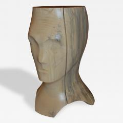 Hand Carved Spalted Head Side Table - 148489