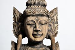 Hand Carved Teak Wood Blessing Angels - 740294