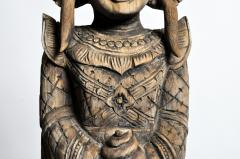 Hand Carved Teak Wood Blessing Angels - 740295