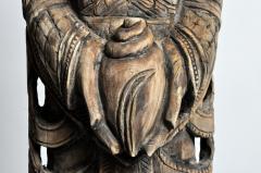 Hand Carved Teak Wood Blessing Angels - 740297