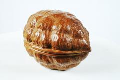 Hand Carved Walnut Covered Box by Guglielmo Pecorini - 775461