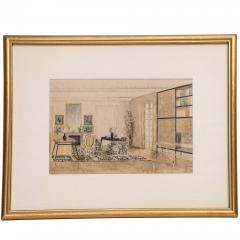 Hand Colored Interior Drawing - 1097042