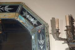 Hand Etched Octagonal Venetian Mirror - 1424832