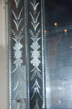 Hand Etched Octagonal Venetian Mirror - 1424833