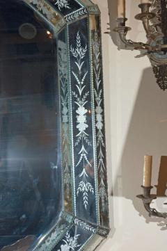 Hand Etched Octagonal Venetian Mirror - 1424834