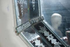 Hand Etched Octagonal Venetian Mirror - 1424835