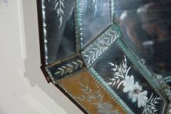 Hand Etched Octagonal Venetian Mirror - 1424836