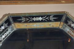 Hand Etched Octagonal Venetian Mirror - 1424838