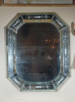 Hand Etched Octagonal Venetian Mirror - 1424839