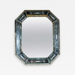 Hand Etched Octagonal Venetian Mirror - 1425953