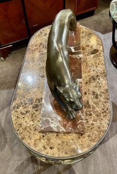 Hand Forged Iron Oval Custom Art Deco Coffee Table with Marble Top - 1334136
