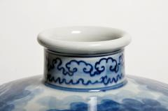 Hand Painted Blue and White Jar - 1653672