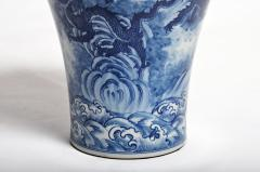 Hand Painted Blue and White Jar - 1653674