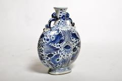 Hand Painted Chinese Blue and White Porcelain Pilgrims Flask - 1653273