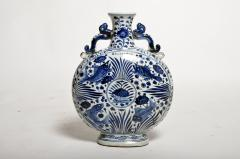 Hand Painted Chinese Blue and White Porcelain Pilgrims Flask - 1653274