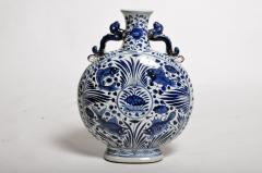 Hand Painted Chinese Blue and White Porcelain Pilgrims Flask - 1653275