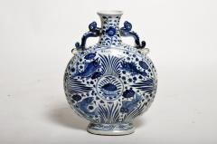 Hand Painted Chinese Blue and White Porcelain Pilgrims Flask - 1653285