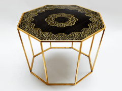 Hand Painted Gold Leaf Table - 970651