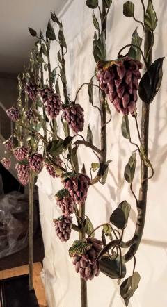 Hand Painted Grape Vines with Clusters of Majolica Grapes Deruta Italy c 1940 - 1254070