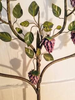 Hand Painted Grape Vines with Clusters of Majolica Grapes Deruta Italy c 1940 - 1257861