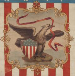 Hand Painted Patriotic Banner With The Seal of the State of Illinois - 577644