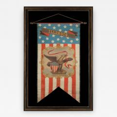 Hand Painted Patriotic Banner With The Seal of the State of Illinois - 578267