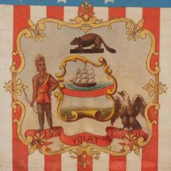 Hand Painted Patriotic Banner with the Seal of the State of Oregon - 639101