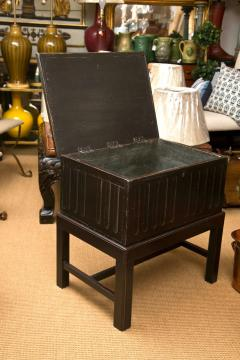 Hand Painted Wooden Chest on a Custom Made Stand - 82790