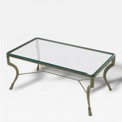 Hand Wrought Iron Stylized Hoof Foot Coffee Table in Gunmetal Grey Finish - 82440