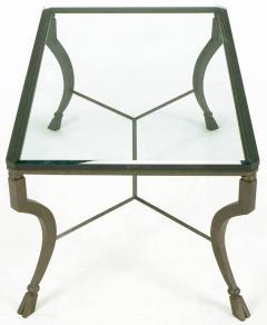 Hand Wrought Iron Stylized Hoof Foot Coffee Table in Gunmetal Grey Finish - 82444