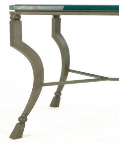 Hand Wrought Iron Stylized Hoof Foot Coffee Table in Gunmetal Grey Finish - 82445