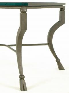 Hand Wrought Iron Stylized Hoof Foot Coffee Table in Gunmetal Grey Finish - 82446