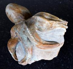 Hand carved stone octopus sculpture by Warren Arnold American b 1934  - 2131060