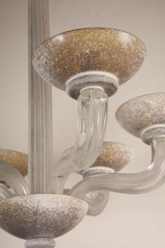 Handblown Scavo Glass Chandelier by Karl Springer for Seguso - 774904