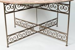 Handcrafted Moroccan Moorish Round Copper Tray Table on Iron Base - 1337948