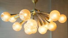 Handcrafted Murano Glass Half Sputnik Chandelier - 1487770