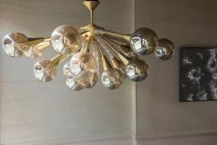 Handcrafted Murano Glass Half Sputnik Chandelier - 1487793