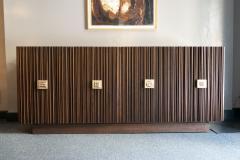 Handcrafted Sideboard in Oak Bronze Glass Italy 2020 - 1822256