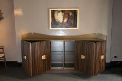 Handcrafted Sideboard in Oak Bronze Glass Italy 2020 - 1822257
