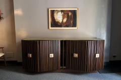Handcrafted Sideboard in Oak Bronze Glass Italy 2020 - 1822259