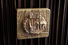 Handcrafted Sideboard in Oak Bronze Glass Italy 2020 - 1822365