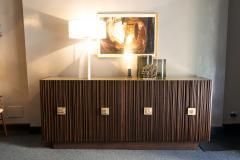 Handcrafted Sideboard in Oak Bronze Glass Italy 2020 - 1822536