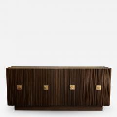 Handcrafted Sideboard in Oak Bronze Glass Italy 2020 - 1824291