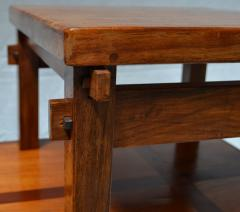 Handcrafted Studio End Table with Mixed Wood Inlay and Pegs circa 1955 - 570804