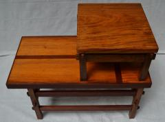 Handcrafted Studio End Table with Mixed Wood Inlay and Pegs circa 1955 - 570805