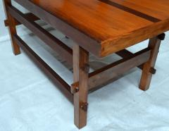 Handcrafted Studio End Table with Mixed Wood Inlay and Pegs circa 1955 - 570806