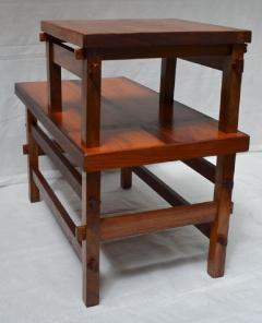 Handcrafted Studio End Table with Mixed Wood Inlay and Pegs circa 1955 - 570807